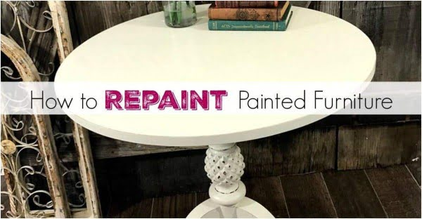 Repainting painted furniture.