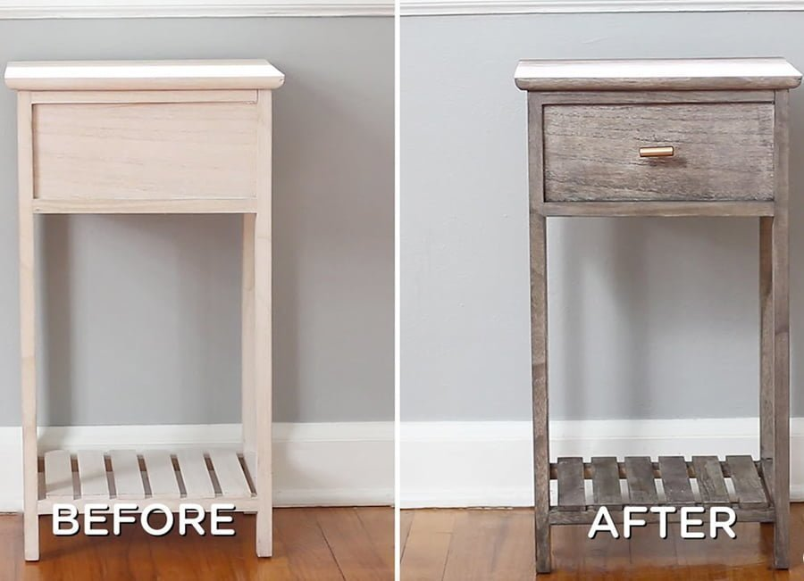 How To Distress Painted Wood With Vinegar