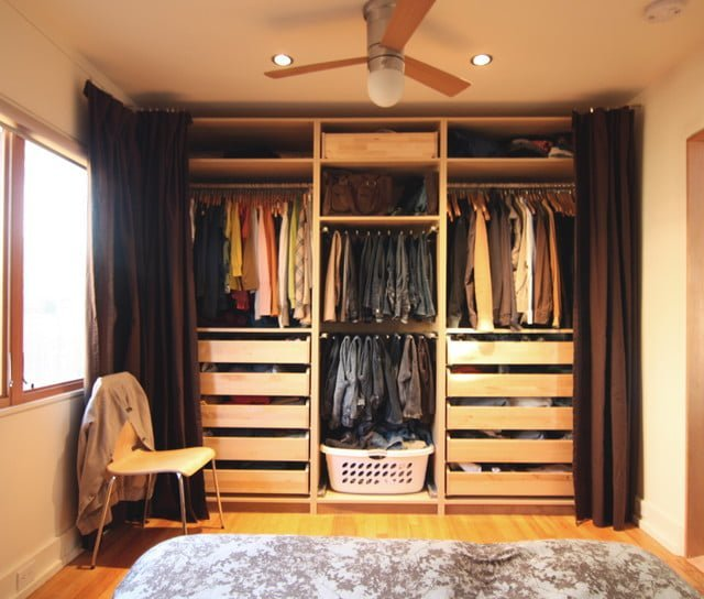 Replace Closet Doors With Curtains