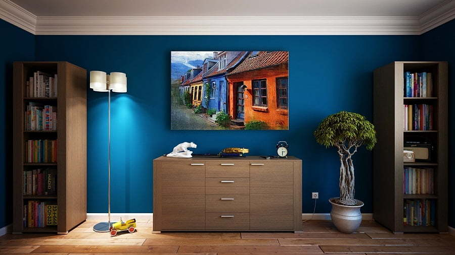 wall decor painting color scheme