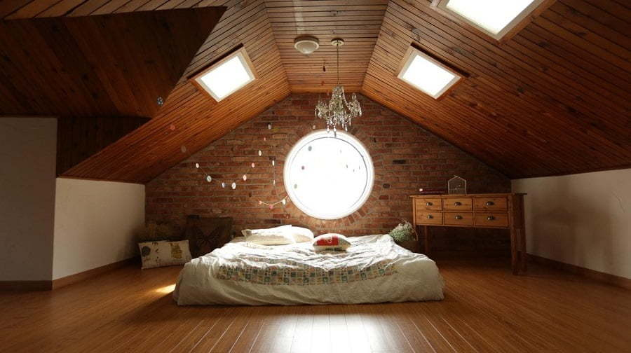 attic bedroom rooflights
