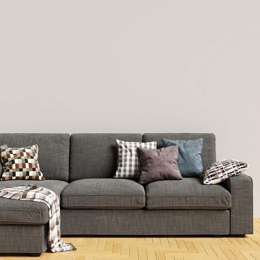 sofa throw and pillows