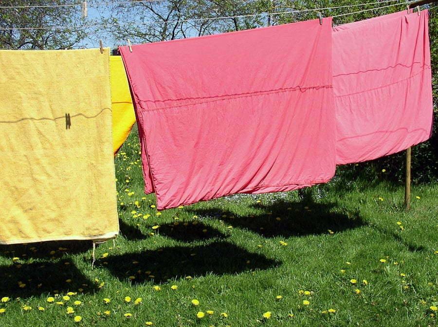 sunlight laundry clothesline