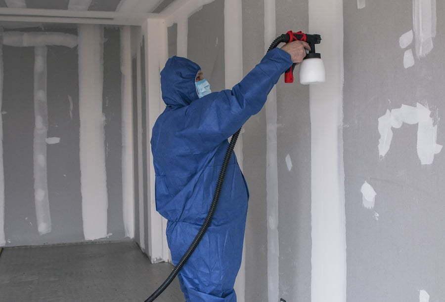 paint spray wall