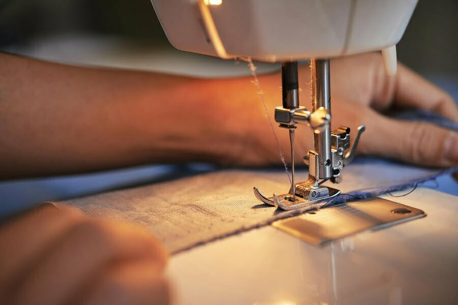 sewing machine positioning