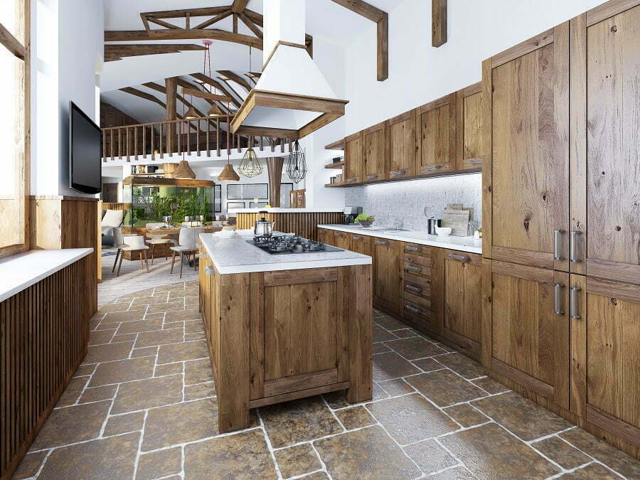 larger kitchen