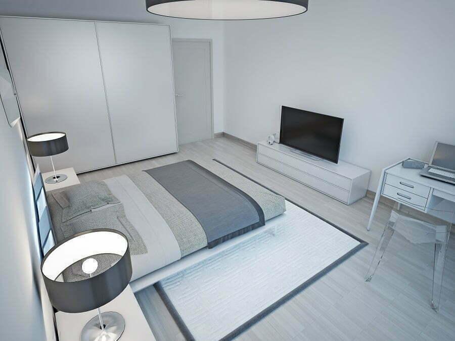 light grey room